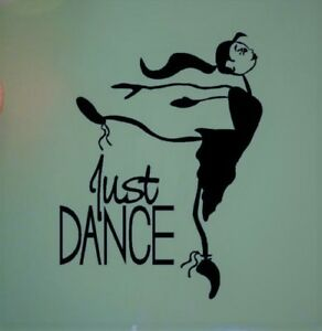 Just Dance Sticker Vinyl Wall Decal / wallart girls bedroom decor / car bumper