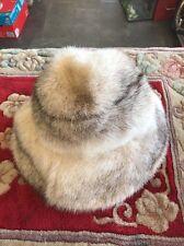 Fur Hat Minx White Grey Vincent + Bill New York