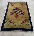 Turkish Rug Handmade Vintage Traditional Wool Rug 160 X 100 Flower Design