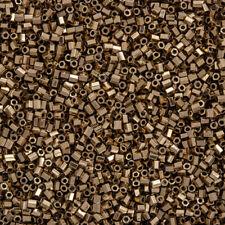 Miyuki Hex Cut 11/0 (2mm) Seed Beads Metallic Dark Bronze 12g (Q15/2)