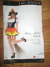 Womens KANDY KORN WITCH CANDY CORN sexy Halloween Costume M Md Med Leg Avenue