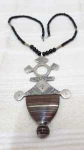 Cross Silver Coptic Tuareg North Africa with sidre wood