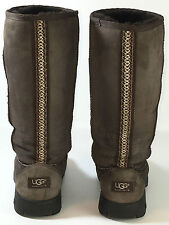 UGG Australia 5340 Ultimate Tall Braid Boot Brown Size 9 USA.