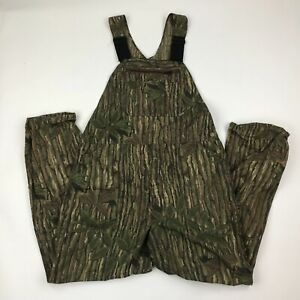 Walls Men Real Tree Ripstop Camouflage Bib Overalls Made in USA sz 40x32