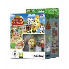 Nintendo Wii U Animal Crossing Amiibo Festival 2 Figures & 3 Card WiiU