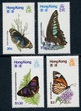 Hong Kong: 1979 Butterflies (354-357) MNH