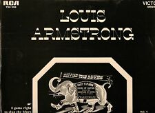 LOUIS ARMSTRONG 1933-47 RCA BLACK & WHITE FRANCE LP MINT