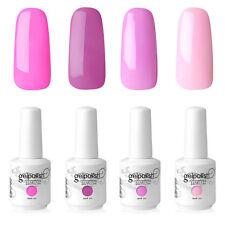 Elite99 Gel Nail Polish Soak Off 4 Colours Manicure Kit Hot Pink UV LED Lamp DIY