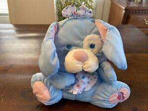 "Vintage Fisher Price 1999 Puffalumps Blue Puppy Plush! 10"" Floppy Dog RARE"