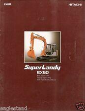 Equipment Brochure - Hitachi - Ex60 Super Landy - Excavator - Japanese (E2251)