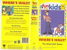 WHERES WALLY THE GREAT BALL GAME VHS VIDEO PAL~