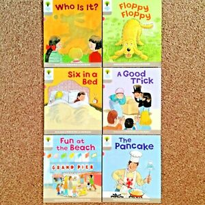 6 Oxford Reading Tree Biff Chip & Kipper Level 1 FIRST WORDS Books Ages 3-4 Yrs