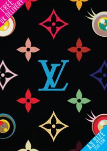Louis Vuitton poster Wall Print Poster A3 Designer Fashion