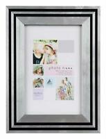 Art Deco Style Black Silver Picture Photo Frame 6x4 5x7 8x6 10x8 A4 Certificate