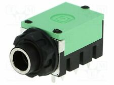 FC67830 Socket - Jack 6 -3mm - female - stereo - shielded - sealed - with hex nu