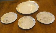 Set of 4 ~ Sascha Brastoff ~ Pink Ballet Plates (mostly white)
