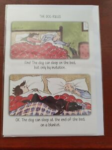 THE DOG RULES Dog birthday card DOGS funny birthday card BLANK greetings card