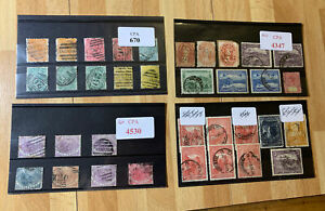 A Small Collection of Stamps Tasmania - 4 Stock Cards - Used