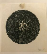 Joly erotico Ex Libris di Erik Andre Joly  per G.M. Van Wees, firmato a matita