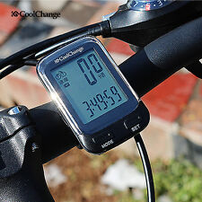 Wireless Cadence LCD Digital Bicycle Computer Cycling Bike Odometer Speedometer
