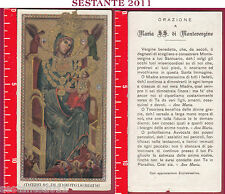1920 SANTINO HOLY CARD MADONNA MARIA SS. DI MONTEVERGINE ORAZIONE