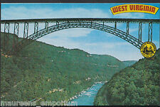 America Postcard - New River Gorge Bridge, West Virginia  RT1082