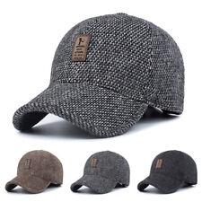 UK Men Winter Warm Baseball Casual Cap Earflap Earmuffs Golf Sport Outdoor Hat