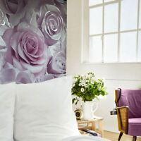 Madison Rose Paillette Floral Papier Peint Violet Lilas - Muriva 139522