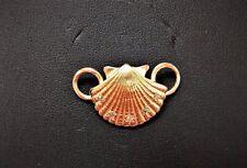 LeStage Convertible Clasp - 14K Gold Scallop Shell w/ Diamonds (KB5642)