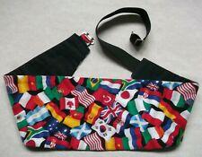 Cummerbund MENS Broad Sash Adjustable Flags of the World