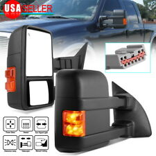 Fit for 99-07 Ford F250 F350 Super Duty Trailer Tow Mirrors Power Heated Signal