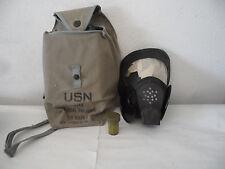 Vintage USN ND Mark V Gas Mask with Satchel and Antifogging Cloth