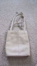 FOSSIL 75082 BONE LEATHER HAND BAG, PURSE, 9 1/2 Tall Two Handles