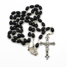 Black Plastic Beads Catholic Our Lady of Fatima Rosary Made in Portugal