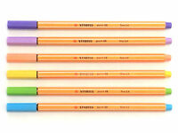 Stabilo Point 88 Fineliner Pigment Liner - Pastel Set of 6 pens
