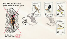 TURKEY TURKISH CYPRUS  1990 - WWF WORLD ENVIROMENT DAY BIRDS   FDC  - RARE