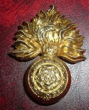 CAP BADGES-ORIGINAL ROYAL FUSILIERS ANNODISED/STAYBRIGHT FIRMIN