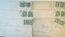Lot George Washington 1 Cent Stamp Stamped Envelopes 1914 15 Ohio Urbana Radnor
