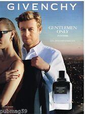 Publicité Advertising 2014 Parfum Givenchy avec Simon Baker Mentalist