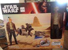 "Star Wars The Force Awakens Poe Dameron Speeder Bike 12"" inch figure"