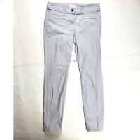 Ann Taylor LOFT Women's Dress Pants Sz 2 Grey Skinny Fit Cotton Trousers Career