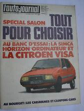 L'auto Journal N° 17 octobre 1978 Citroen Visa Horizon ordinateur salon bourget