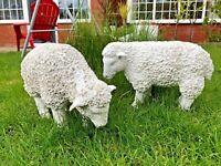 Spring Lamb Garden Ornament Resin Laying Down Sheep Statue Farmyard