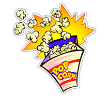 Popcorn I Concession Decal vendor cart trailer stand sticker equipment