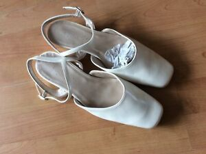 Ladies Lovely Formal Cream/champagne Wedding Shoes Size 7.5 New Shop Clearance