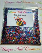 Limited Edition Glitter Mix~CARD QUEEN*Disney Villiains~ Comes W Alloy~ Nail Art