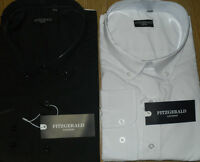 KING SIZE NEW MENS   FITZGERALD BLACK/WHITE  L/S SHIRTS 2XL.3XL,4XL,5XL,6XL,7XL