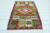 "Anatolia Cal Small Kilim Rug, Doormat, Bedroom Rug, Small Carpet Teppich 31""X49"""