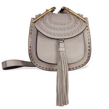Chloe Mini Hudson Leather Crossbody Bag - Motty Grey