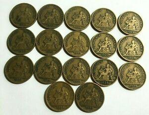 1 franc CHAMBRE DU COMMERCE - BON POUR 1 FRANC - 1922 & 1923 (lot de 17 pièces)
